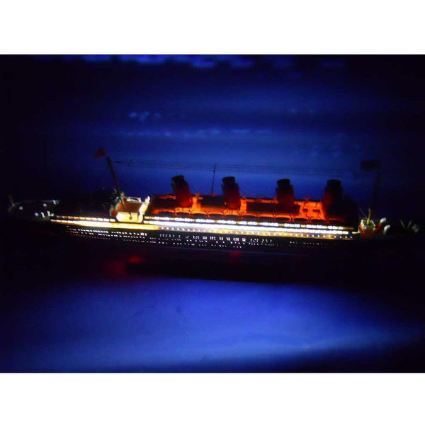 My Parlor Room - RMS Lusitania Limited Model Cruise Ship with LED Lights 30 inch - My Parlor Room