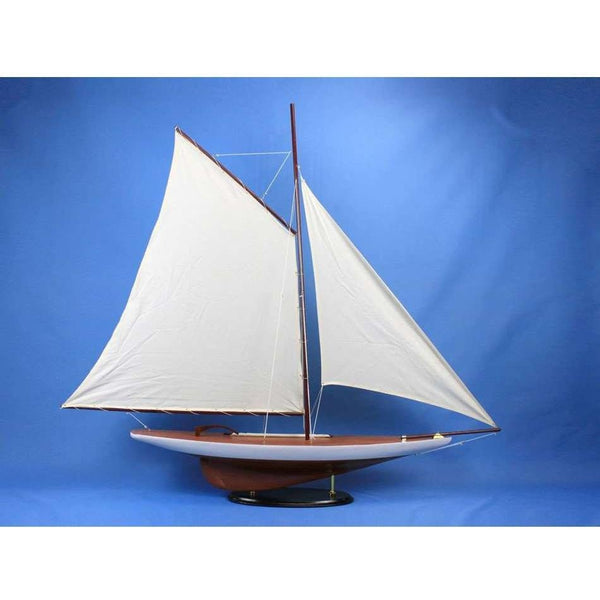 My Parlor Room - Wooden Americas Cup Contender Model Sailboat Decoration 50 inch - My Parlor Room