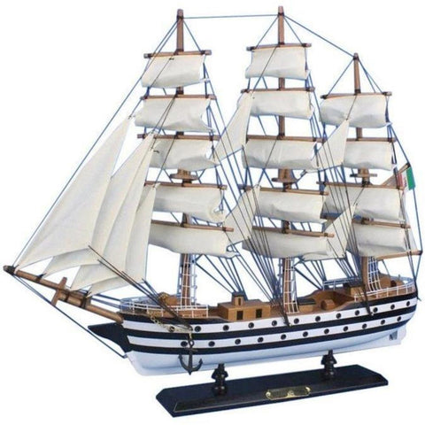 Model Ships - Wooden Amerigo Vespucci 20 Inch Tall Model Ship