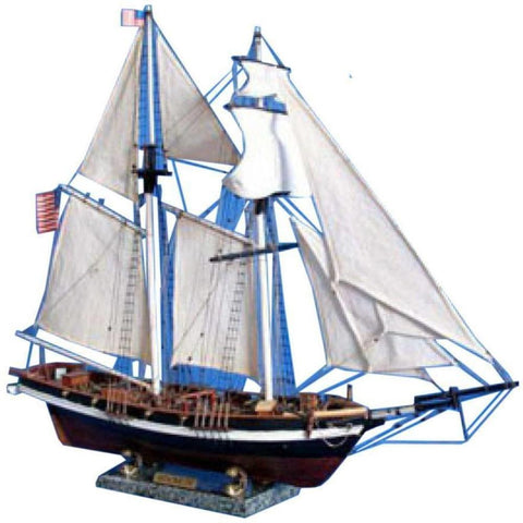 Model Ships - Wooden Baltimore Clipper Harvey Tall Model Ship 32 Inch