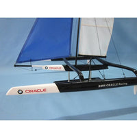 My Parlor Room - Wooden BMW Oracle Trimaran Limited Model Yacht 30 inch - My Parlor Room