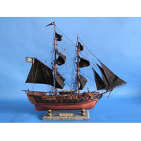 My Parlor Room - Wooden Caribbean Pirate Ship Model Limited 26 inch Black Sails - My Parlor Room