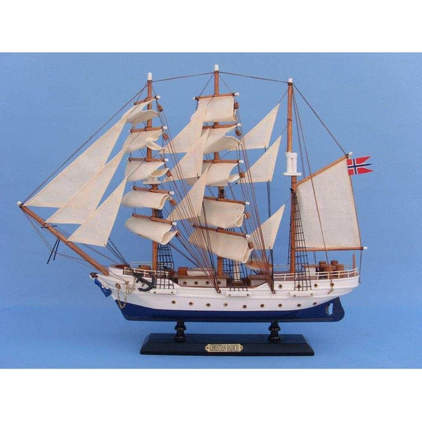 My Parlor Room - Wooden Christian Radich Tall Model Ship 20 inch - My Parlor Room