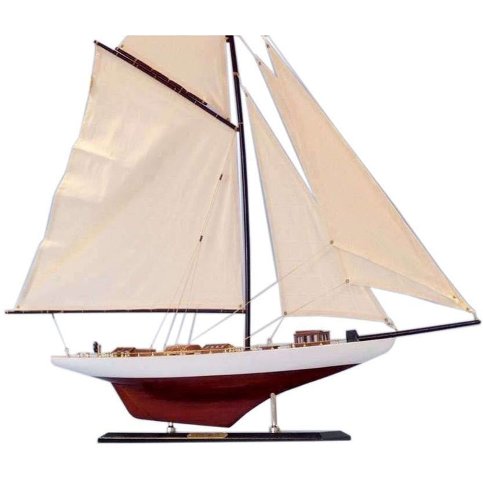Model Ships - Wooden Columbia Limited Model Sailboat Decoration 35 Inch
