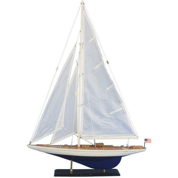 My Parlor Room - Wooden Enterprise Model Sailboat Decoration 35 inch - My Parlor Room