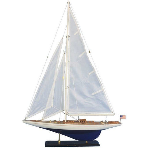 Model Ships - Wooden Enterprise Model Sailboat Decoration 35 Inch