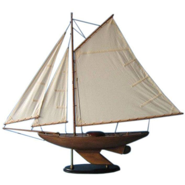 My Parlor Room - Wooden Lakeview Sloop Model Decoration 40 inch - My Parlor Room