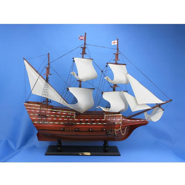 My Parlor Room - Wooden Mayflower Tall Model Ship 30 inch - My Parlor Room