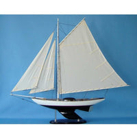 My Parlor Room - Wooden Modern Decor Sloop Decoration 40 inch - My Parlor Room