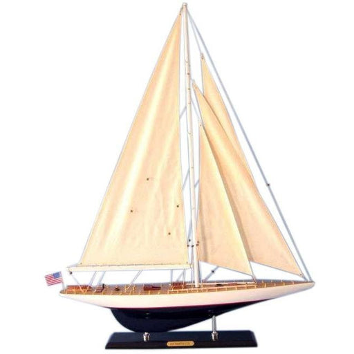 Model Ships - Wooden Modern Enterprise Limited Model Sailboat Decoration 35 Inch