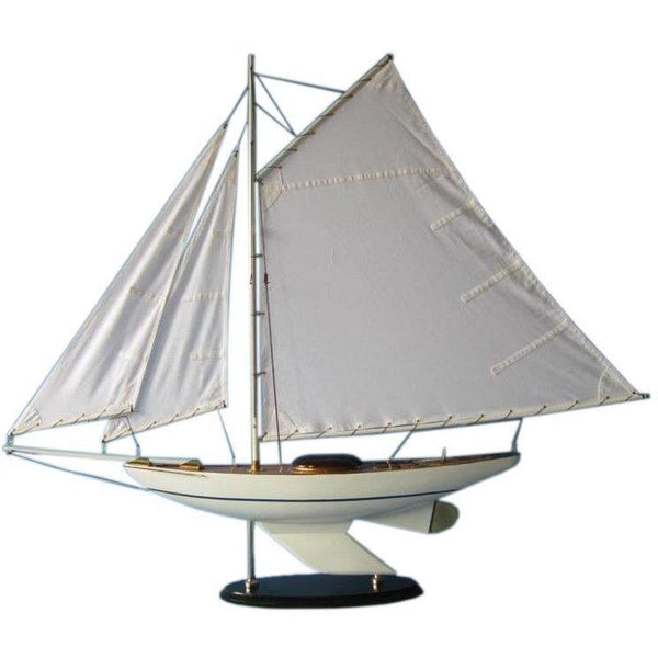 My Parlor Room - Wooden Oceanside Sloop Model Decoration 40 inch - My Parlor Room