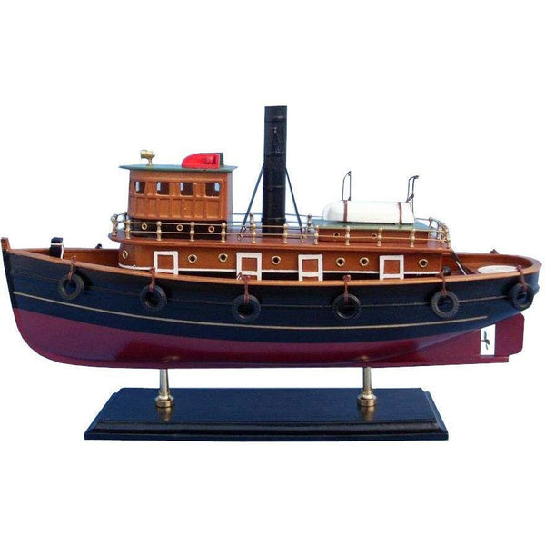 My Parlor Room - Wooden River Rat Tugboat Model - My Parlor Room