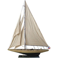 My Parlor Room - Wooden Rustic Enterprise Model Sailboat Decoration 60 inch - My Parlor Room