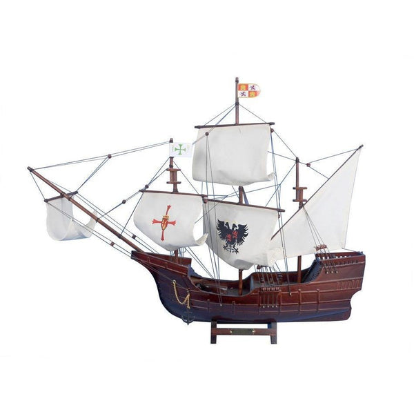 My Parlor Room - Wooden Santa Maria with Embroidery Tall Model Ship 30 inch - My Parlor Room