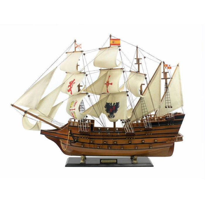 Handcrafted Nautical Decor Wooden Spanish Galleon Tall
