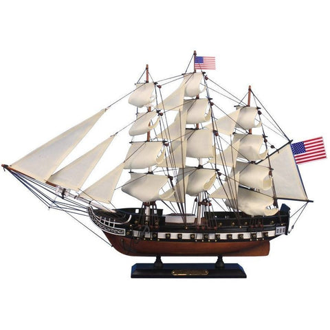 Model Ships - Wooden USS Constitution Tall Model Ship 24 Inch