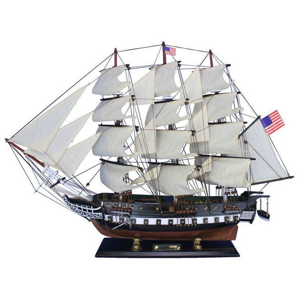 My Parlor Room - Wooden USS Constitution Tall Model Ship 32 inches - My Parlor Room