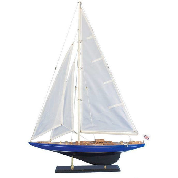 My Parlor Room - Wooden Velsheda Model Sailboat Decoration 35 inch - My Parlor Room