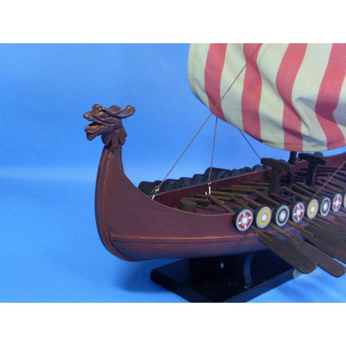 Model Ships - Wooden Viking Drakkar Model Boat 24 Inch