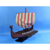 My Parlor Room - Wooden Viking Drakkar Model Boat 24 inch - My Parlor Room