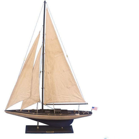 Model Ships - Wooden Vintage Enterprise Limited Model Sailboat Decoration 35 Inch