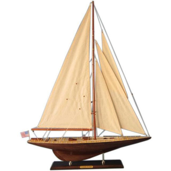 My Parlor Room - Wooden Whirlwind Limited Model Sailboat Decoration 35 inch - My Parlor Room