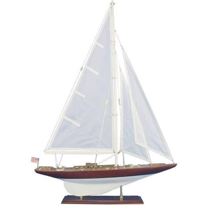 Model Ships - Wooden William Fife Model Sailboat Decoration 35 Inches