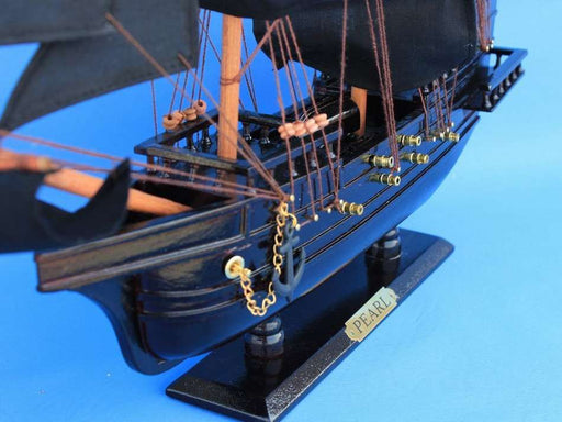Wooden Edward England's Pearl Model Pirate Ship 20""