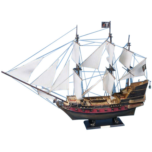 My Parlor Room - Blackbeard's Queen Anne's Revenge Model Pirate Ship 36 inch White Sails - My Parlor Room