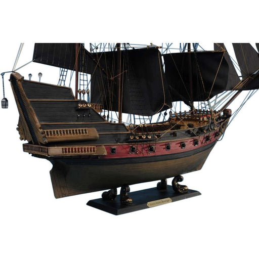 Handcrafted Nautical Decor - Black Bart's Royal Fortune Limited Model Pirate Ship 24 inch Black Sails - My Parlor Room