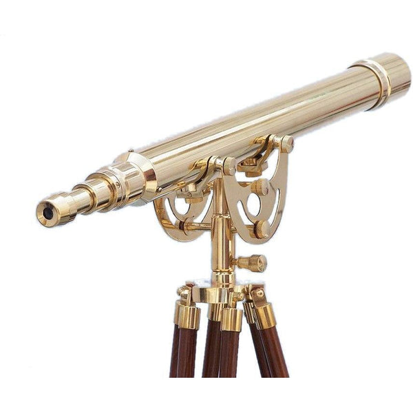 My Parlor Room - Floor Standing Brass Anchormaster Telescope 65 inches - My Parlor Room