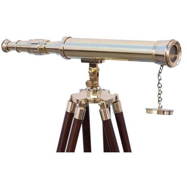 My Parlor Room - Floor Standing Brass Harbor Master Telescope 50 inch - My Parlor Room