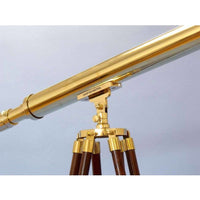 My Parlor Room - Floor Standing Brass Harbor Master Telescope 60 inch - My Parlor Room