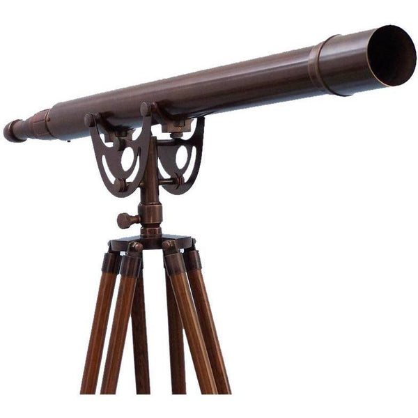 My Parlor Room - Floor Standing Bronzed Anchormaster Telescope 65 inch - My Parlor Room