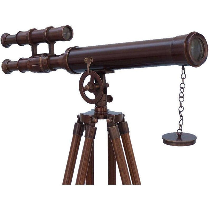 Telescopes - Floor Standing Bronzed Griffith Astro Telescope 50 Inch