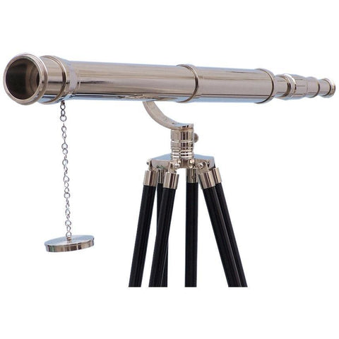 Telescopes - Floor Standing Chrome Galileo Telescope 65 Inch