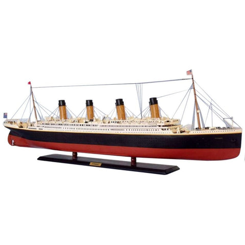 Handcrafted Nautical Decor - RMS Titanic Limited w/ LED Lights Model Cruise Ship 50 inch - My Parlor Room