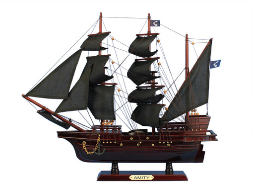 Wooden Thomas Tew's Amity Model Pirate Ship 20""
