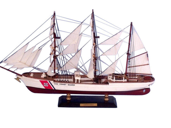 My Parlor Room - United States Coast Guard (USCG) Eagle Limited Tall Model Ship 21 inch - My Parlor Room