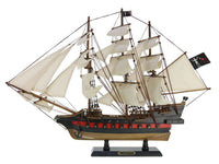 "My Parlor Room - Wooden Blackbeard's Queen Anne's Revenge White Sails Limited Model Pirate Ship 26"" - My Parlor Room"