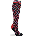 Zig Zag  Merino Wool Graduated Compression Socks (20 - 30 mmhg)