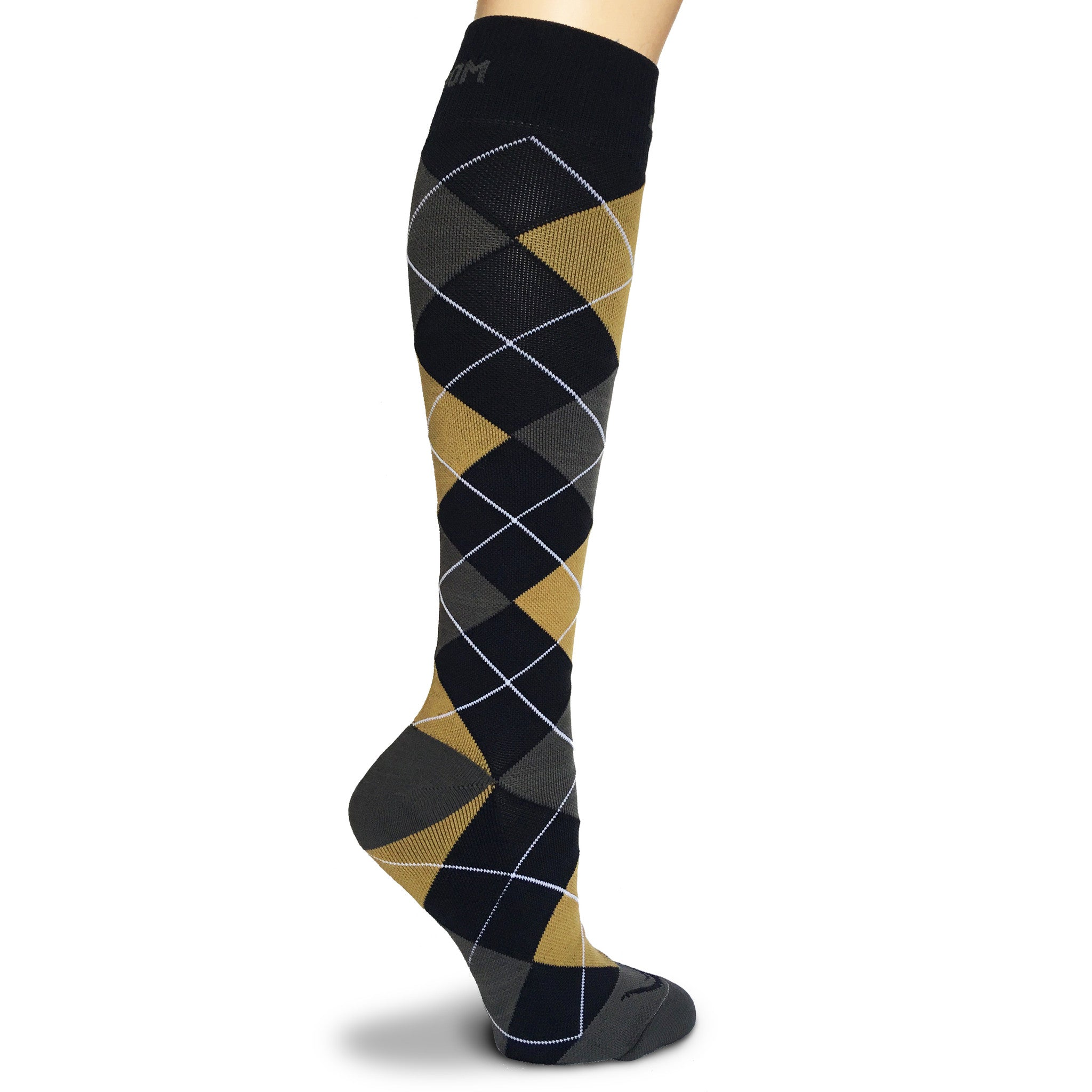 Argyle 20 - 30 mmhg Graduated Compression Socks