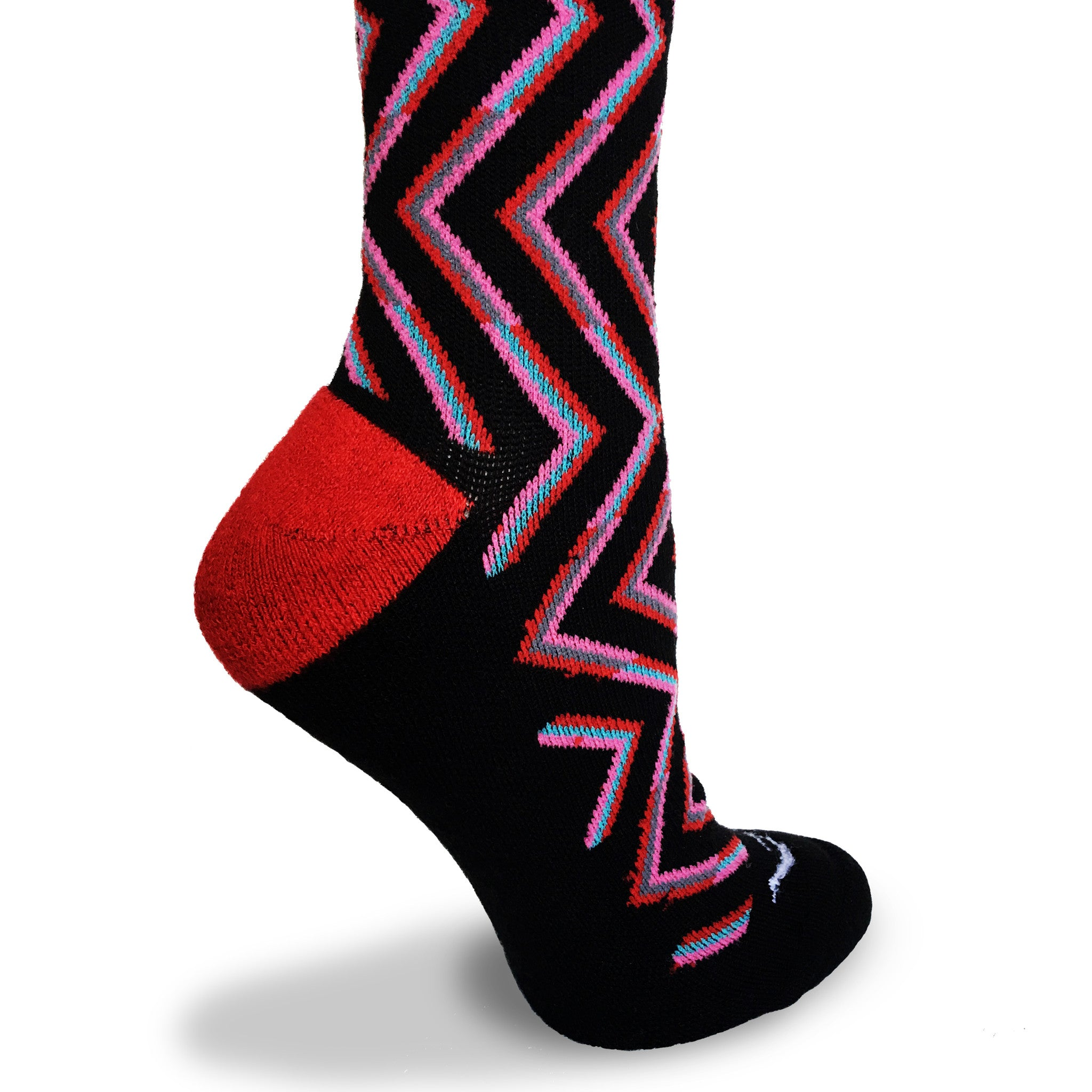 Zig Zag 20 - 30 mmhg Merino Wool Graduated Compression Socks