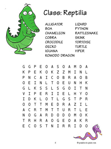 20 Word Searches For Kids