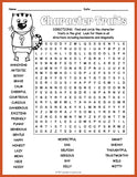Character Traits Word Search Puzzle