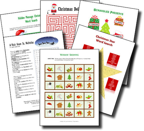 Christmas Puzzle Bundle - PRINTABLE PDF