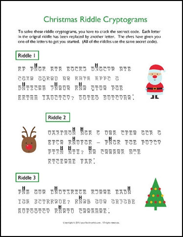 picture relating to Christmas Riddles Printable identify Xmas Puzzle Package - PRINTABLE PDF