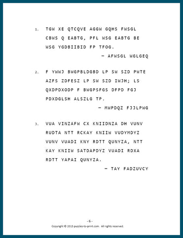 Cryptograms Volume 2 Sample Page