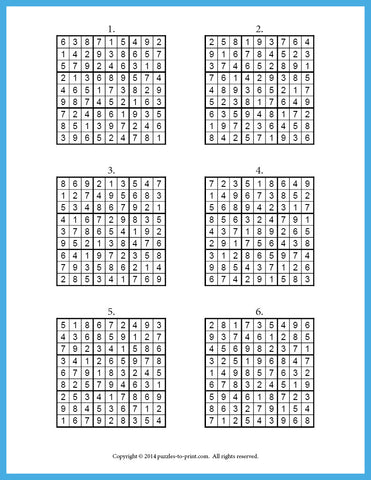 picture regarding Sudoku Printable Pdf known as Uncomplicated Sudoku for By yourself - PRINTABLE PDF