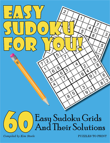 image about Sudoku Printable Grids called Uncomplicated Sudoku for On your own - PRINTABLE PDF